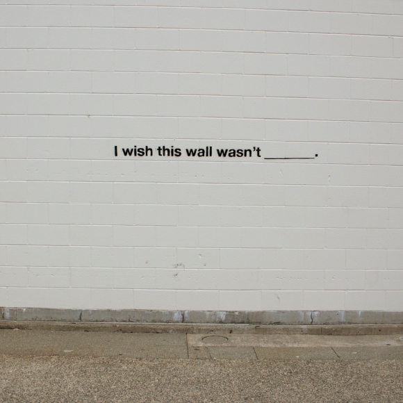 I wish this wall wasn't blank.